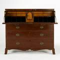 American butlers desk mahogany in the style of michael allison ca 1830 42 12 x 46 x 21