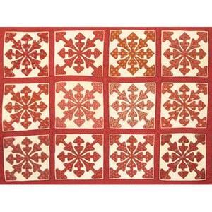 Early new jersey applique quilt paisley and turkey red fabrics mid 19th c 89 x 115