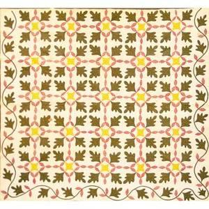 New jersey applique quilt floral applique with vine border 19th c 76 x 94