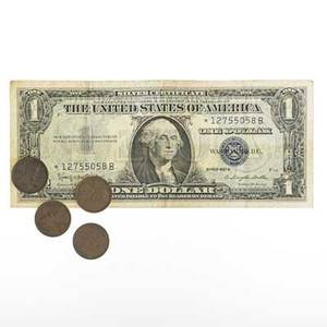 Us coins and currency approx 2600 pieces approx 2000 wheat pennies 2 1909 vdb 1922d 1912d approx 400 buffalo and v nickels 2 wartime nickels and 77 face silver certificates