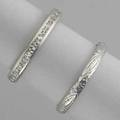 Diamond eternity band and guard ring 19201935 eternity band diamonds approx 50 ct tw size 5 12 chased guard size 5 34 both platinum 31 dwt 49 gs gw