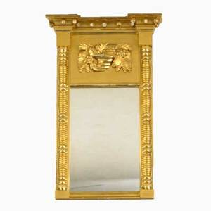 Empire mirror with gilded frame early 19th c 31 x 19 12