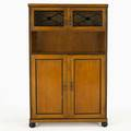 Biedermeier style bar cabinet in oak with ebonized trim 20th c unmarked 57 x 36 x 12