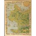 Pictorial map of carmel jo mora designer marston co ca 1926 framed 30 x 23