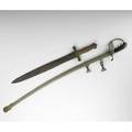 American military swords two ames m1855 artillery short swords and a francis bannerman parade sword 1910 both marked longer 37 12