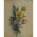 Alice sotter american 18831968 watercolor floral still life framed signed sight 3 12 x 2 12