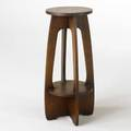 Contemporary arts  crafts limbert style plant stand quartersawn oak late 20th c unmarked 30 12 x 12 12 dia
