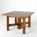 Voorhees craftsman contemporary gustav stickley style clipcorner extension dining table with two 11 12 leaves quartersawn oak late 20th c branded mark 30 12 x 48 sq