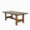 Vulpiani workshops contemporary style of gustav stickley trestle dining table quartersawn oak usa 1989 stamped 30 x 84 x 41 34