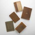 Roycroft books group of five publications an american bible little journeys thoreau elbert hubbards scrap book health and wealth and little journeys to the homes of great business men ca 190