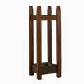 Gustav stickley tapered post umbrella stand no 54 complete with copper drip pan unmarked 33 12 x 11 12 sq