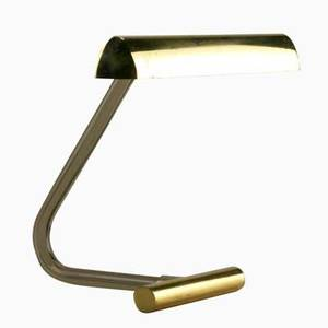 Peter hamburger knoll desk lamp usa ca 1970 polished brass tinted acrylic and chromed metal unmarked 14 x 14 x 11 12