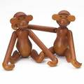 Kay bojesen two teak monkeys denmark 1950s both branded kay bojesendenmarkcopyright each 7 12 tall