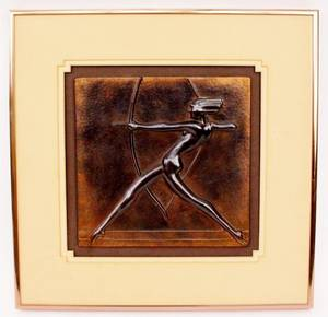 Frankart Figural Wall Plaque of Diane W904
