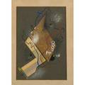 Dwinell grant american b 1941 untitled collage framed signed and dated 14 34 x 10 sight