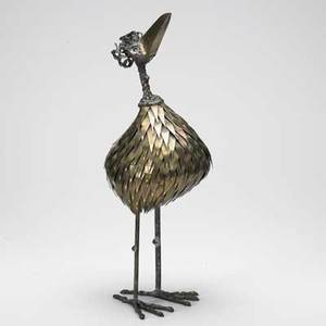 Style of c jere dodo bird table sculpture usa 1960s brass bronze and steel unmarked 20 x 7 x 6 12