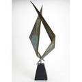 C jere artisan house abstract sculpture in patinated brass ca 1974 signed and dated 26250 37 x 12 x 6