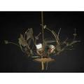 Paavo tynell taito oy threelight ceiling fixture with floral sprays finland ca 1950 brass and copper stamped ttoy taito abmade in finland9029 to cap 22 12 x 18 diam