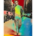 Six prints  posters steve kaufman american b1960 digital print on canvas prince of the city james dean signed and numbered 36 x 28 12 five exhibition posters and prints including ra