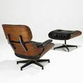 Charles and ray eames herman miller lounge chair and ottoman no 670671 usa 1970s rosewood leather paper and metal labels 33 12 x 33 34 x 33 16 x 26 x 22