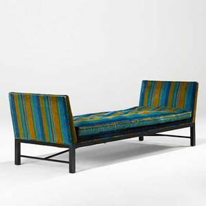 Edward wormley dunbar daybed usa 1960s mahogany velvet embroidered dunbar 28 x 85 x 30
