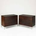 Florence knoll knoll international pair of threedrawer dressers usa 1960s rosewood chromed steel label to bottom of one dresser 28 34 x 36 x 19 12