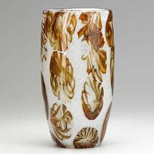 E ferro  c glass vase with internal decoration italy 1960s signed e ferro  cmurano 12 x 6 12