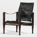 Kaare klint rud rasmussens snedkerier safari lounge chair denmark 1960s ash leather brass paper label 31 x 23 x 25