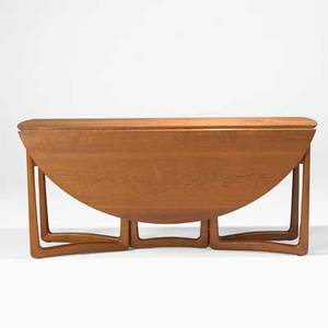 Peter hvidt and orla molgaardnielsen france and sons gateleg dining table denmark 1960s teak brass metal france and sons labels closed 28 12 x 64 x 17 12 open 56 14