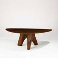 Jacquin smolens workshop on the water dining table rock hall maryland 1970s hand tooled walnut welded steel substructure provenance dr and mrs ellen goldberg copy of original receipt avail