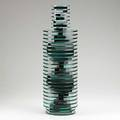 Sidney r hutter tall sculpture usa 1986 cut polished and laminated glass signed sydney r hutter 1986 vase 9042 22 12 x 7