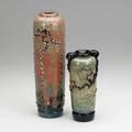 John nygren two glass vases north carolina 198890 both signed john nygren dated and numbered tallest 12 13 x 3 12