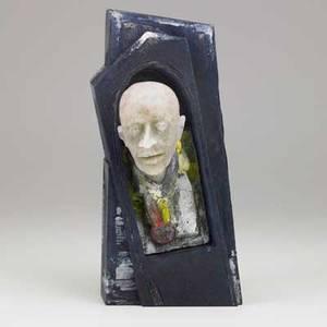 David reekie patedeverre figural sculpture norwich uk 1988 signed and dated 10 x 5 x 4 12