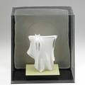 Sydney cash sculpture new york 1981 glass and metal wire signed cash 81 13 x 11 12 x 7