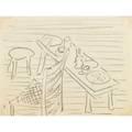 Wharton esherick three drawings of eshericks studio paoli pa ca 1930 print cabinet and stool designed by esherick 1927 eshericks studio with chair stool and bench eshericks bedroom with h