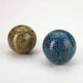 Ludovico diaz de santillana venini two murrine glass balls murano italy ca 1965 one with engraved signature venini italia 3 dia