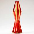 Fulvio bianconi venini fasce verticali glass vase in amber and red glass murano italy 1950s etched with circular three line stamp venini italy murano 12 x 4