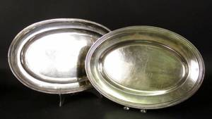 Pair of Silverplated TraysOne Christofle