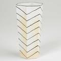 Bodil manz porcelain faceted vessel denmark ca 1990 signed 6 12 x 3 34
