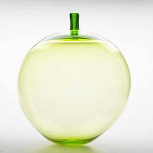 Ingeborg lundin orrefors large chartreuse glass apple vase sweden 1957 signed expo d3257 orrefors ingeborg lundin 16 x 12
