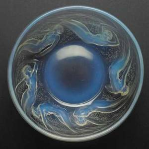 Lalique ondines opalescent glass bowl france c 1921 m p 699 no 3003 etched r lalique france 381 3 x 7 12