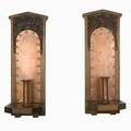 Arts and crafts pair of wall sconces maine ca 1905 carved pine copper provenance private collection bryant pond maine property of a private collector delaware unmarked 18 x 7 x 7 not