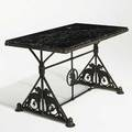 Oscar bach coffee table new york ca 1930 provenance property of a private delaware collector wrought iron bronze marble signed 19 34 x 32 x 18 34
