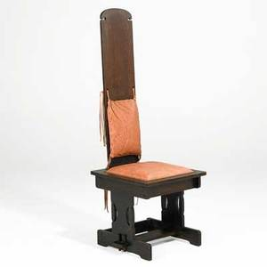 Charles rohlfs rare hall chair buffalo 1907 provenance property of a private delaware collector robert edwards gallery publication coy l ludwig the arts and crafts movement in new york sta