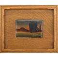 Henry j albright american 18871951 chinapainted tile convenshional sic landscape framed albany ny ca 1905 provenance phillips auction 687 lot 210 collection of a private delaw