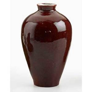 White pines vase in oxblood glaze byrdcliffe ca 1915 provenance collection of mark willcox property of a private delaware collector exhibition the byrdcliffe arts  crafts colony life by d