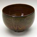 Scheier glazed and incised earthenware bowl new hampshire 1950s signed scheier 5 14 x 8