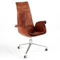 Preben fabricus and jurgen kastholm bird chair germany 1960s leather and matte chromed steel unmarked 43 12 x 29 x 26