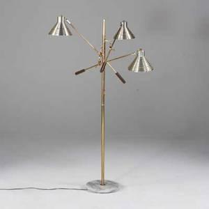 Italian modern adjustable floor lamp italy 1970s brass aluminum metal and marble as shown 60 12 x 35