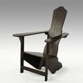 Gino levi montalcini rustic lounge chair italy 1930s mahogany unmarked 42 x 30 x 33